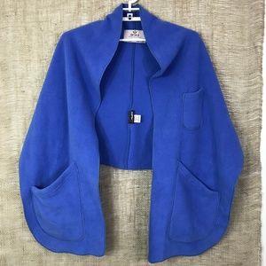 Janska Blue Fleece Reader's Wrap/Shawl